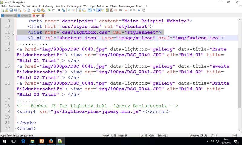 HTML & CSS / VHS WF / 10.04. - 13.04.17