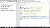 date() - Variablen