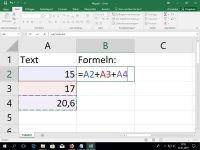 Texte, Zahlen, Formeln